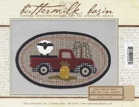 Mini Vintage Truck Thru The Year Quilt Pattern August