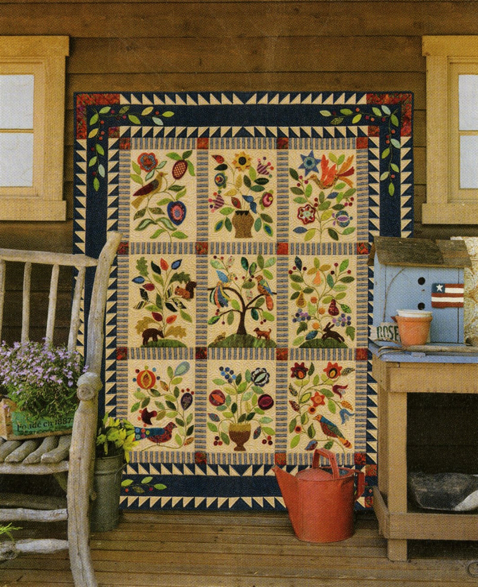 Enchanted Garden: My Enchanted Garden By Gretchen Gibbons Applique Quilts In