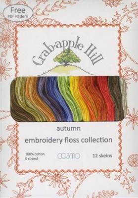 Lecien Crabapple Hill  Autumn 12 Skein Floss Collection