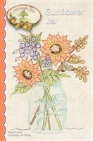 Sunflower Jar Embroidered Quilt Pattern