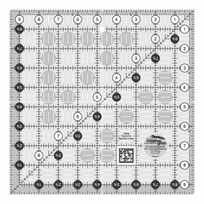 Creative Grids Quilt Ruler 9-1/2in Square # CGR9