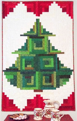 Trim the Tree Log Cabin Pattern Cut Loose Press #2: CL TRIM THE TREE 2T