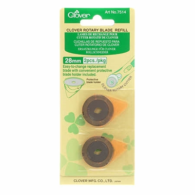 CLOVER 28mm Rotary Cutter Replacement Blade 2 Ct