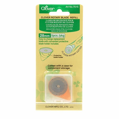 CLOVER 28mm Rotary Cutter Replacement Blade 5 Ct