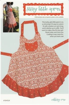 Cabbage Rose's Sassy Little Apron Pattern