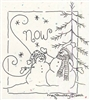 Snow Stitchery Pattern by Crabapple Hill Studio