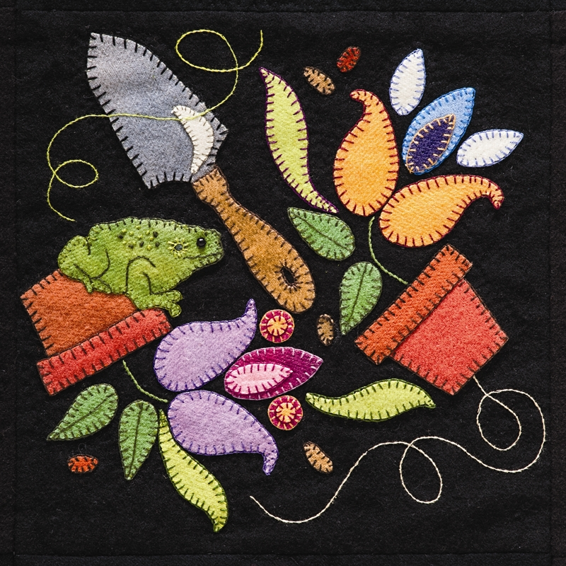 Summertime Sampler Wool Applique Quilt Pattern