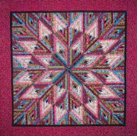Little Bits Diamond Log Cabin Paper Piecing Pattern