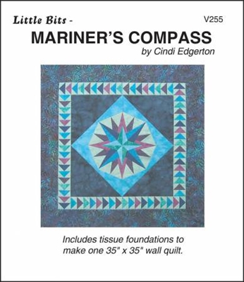 Little Bits Mariner's Compass Paper Piecing Pattern