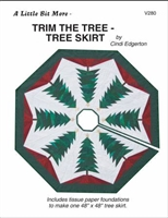 Little Bits Trim The Tree Skirt  Paper Piecing Pattern