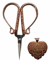 Rose Gold 4in Embroidery Scissor and Thread Cutter Set