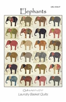Elephants Applique Quilt Pattern by Laundry Basket Quilts