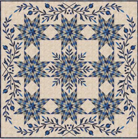 Snowflake Star Amp Applique Quilt Pattern By Edyta Sitar