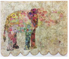 Lulu Elephant Collage Quilt Pattern