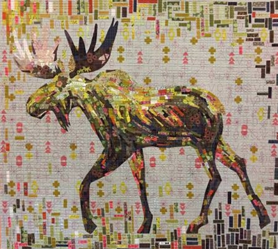 Montgomery Moose Collage Quilt Pattern by Laura Heine