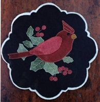 Winter Cardinal Penny Rug Pattern