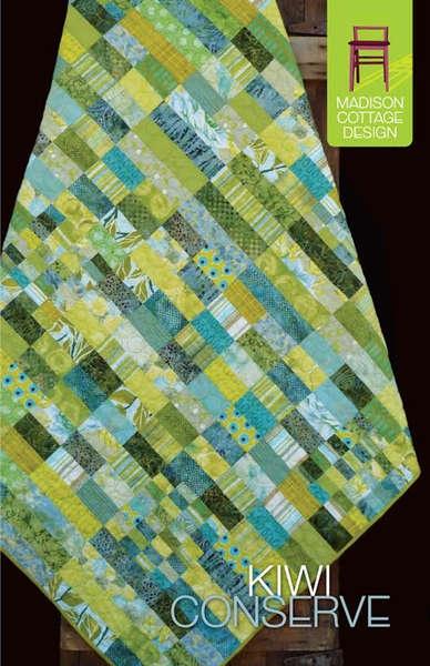 Kiwi Conserve Strip Quilt Pattern By Madison Cottage Design