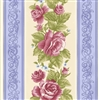 Harlow Collection: Opening Night Border Stripe in Cornflower & Pearls (Cream) 2226-02