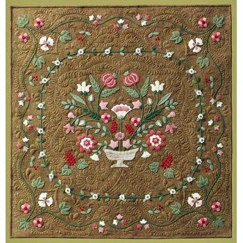 Antique Flower Garden Wool Applique Quilt Pattern