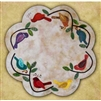 Songbirds Table Mat Wool Applique Quilt Pattern