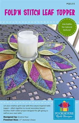 Fold'n Stitch Leaf Topper from Poorhouse Quilt Designs