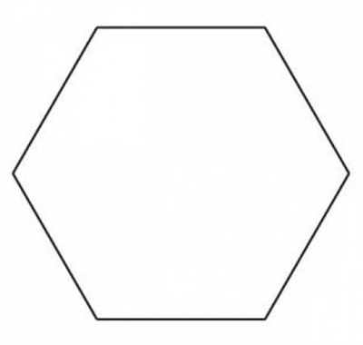 3 inch hexagon template - 3 8 inch hexagon papers 200 papers