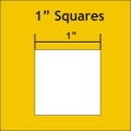 1 Inch SQUARE Paper Pieces TEMPLATE