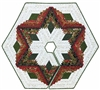 Diamond Log Cabin Christmas Tree Skirt Pattern from Quilt In A Day
