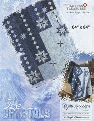 Ice Crystals  Ring Foundation Paper Pieced Quilt Pattern by Judy Niemeyer Quiltworx