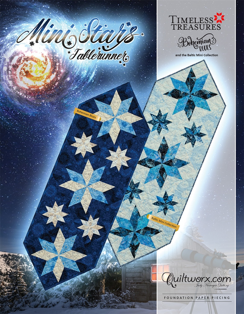 Mini Stars Table Runner Paper Pieced Quilt Pattern By Judy