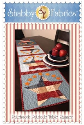 Patchwork Patriotic Table Runner Pattern by Shabby Fabrics