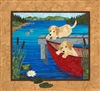 Puppy Canoe Quilt Pattern: