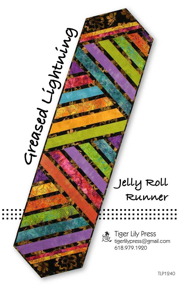 Greased Lightning Streak Jelly Roll Table Runner Pattern