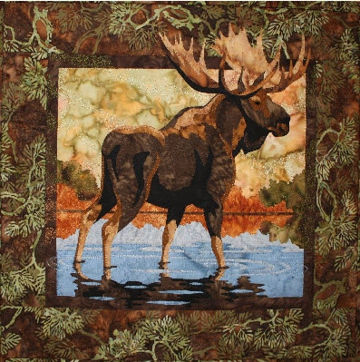 Fusible Applique Quilt Pattern : moose quilt - Adamdwight.com