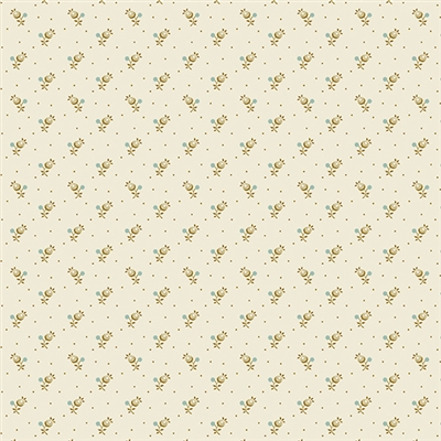 Secret Stash Neutral Forget Me Not in Cream by Edyta Sitar 9460-L
