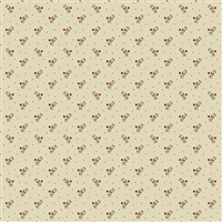 Secret Stash Neutral Forget Me Not in Tan by Edyta Sitar 9460-N