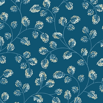 Perfect Union A-9581-B Cotton in Indigo Blue by Edyta Sitar