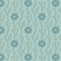 The Seamstress: Linen and Lace in Frost Blue by Edyta Sitar A-9772-B
