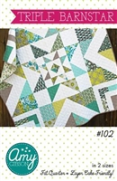 Triple Barn Star Quilt Pattern