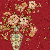 Anne's English Scrapbox Vase Crimson
