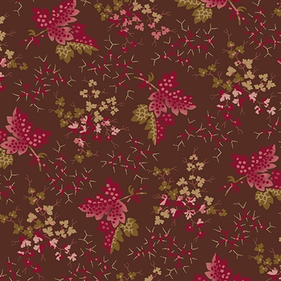 Anne's English Scrapbox Falling Leaves Burgundy