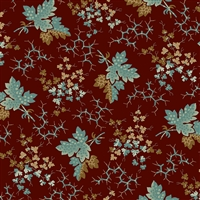 Anne's English Scrapbox Falling Leaves Teal