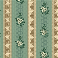 Anne's English Scrapbox Greek Key Stripe Jade