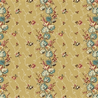 Anne's English Scrapbox Floral Stripe Beige