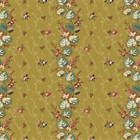 Anne's English Scrapbox Floral Stripe Moss