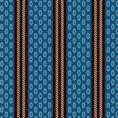 Chesapeake Oval Stripe by Di Ford-Hall Blue