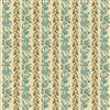 Rochester Tiny Vine Stripe by Di Ford-Hall Teal