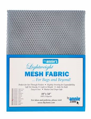 Mesh Lite Weight Pewter 18in x 54in from Annie's