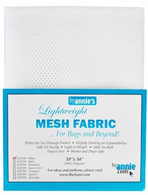 Mesh Lite Weight White 18in x 54in from Annie's