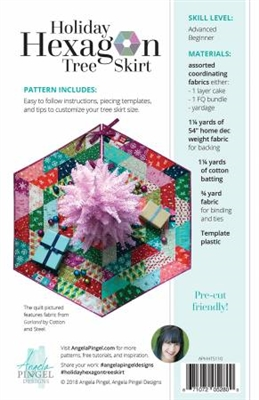 Holiday Hexagon Tree Skirt Pattern by Angela Pingel